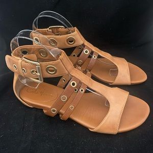 Cole Haan X Nike Cage Ankle Flat Sandals (7.5)